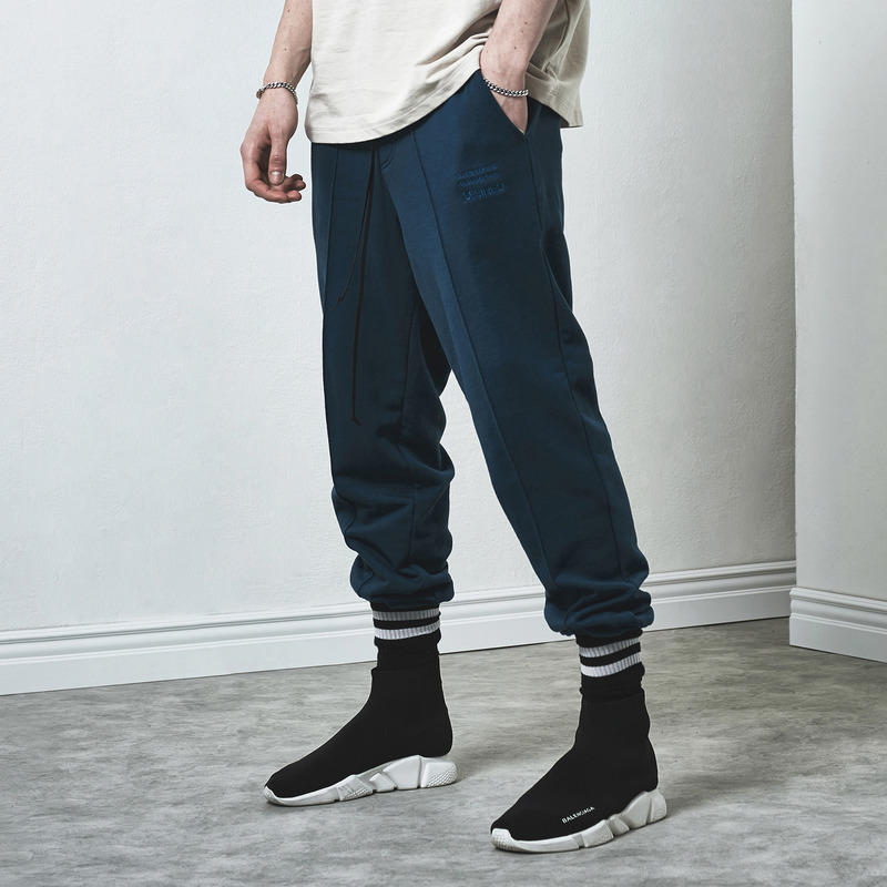 [D.PRIQUE] SWEAT JOGGER PANTS / TURQUOISE