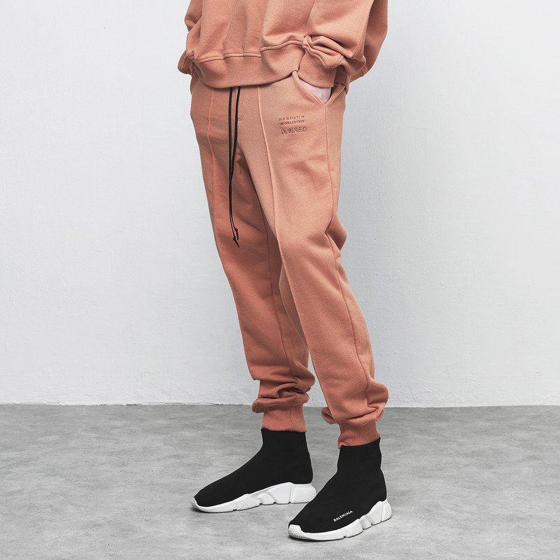 [D.PRIQUE] SWEAT JOGGER PANTS / RUST