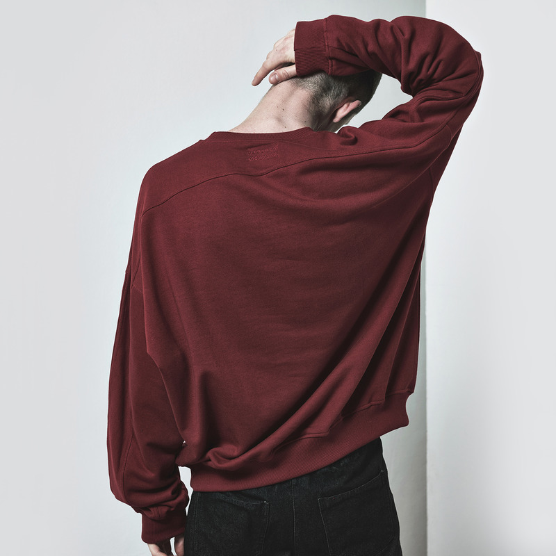 [D.PRIQUE] OVERSIZED SWEATSHIRT / OXBLOOD
