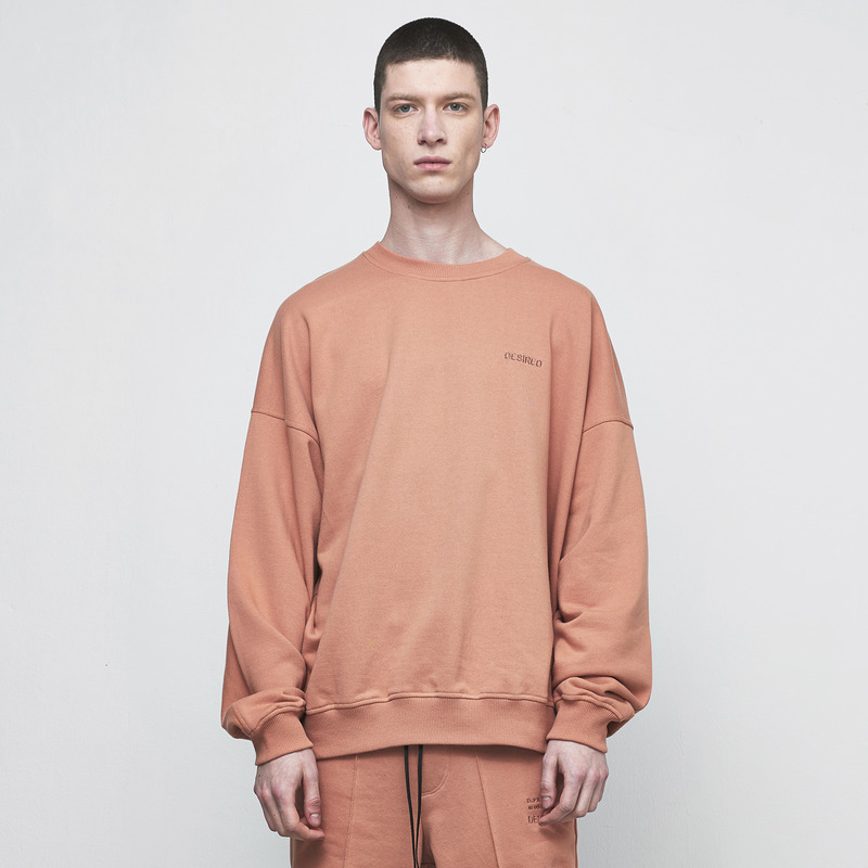 [D.PRIQUE] OVERSIZED SWEATSHIRT / RUST
