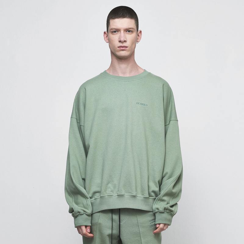 [D.PRIQUE] OVERSIZED SWEATSHIRT / MINT GREEN