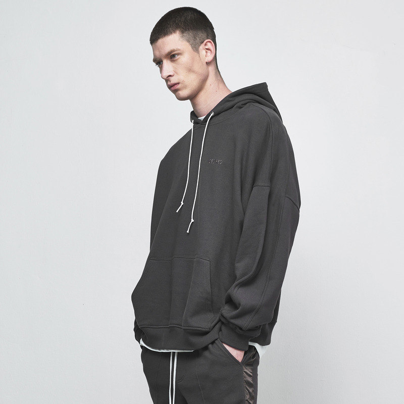 [D.PRIQUE] OVERSIZED HOODIE / CHARCOAL