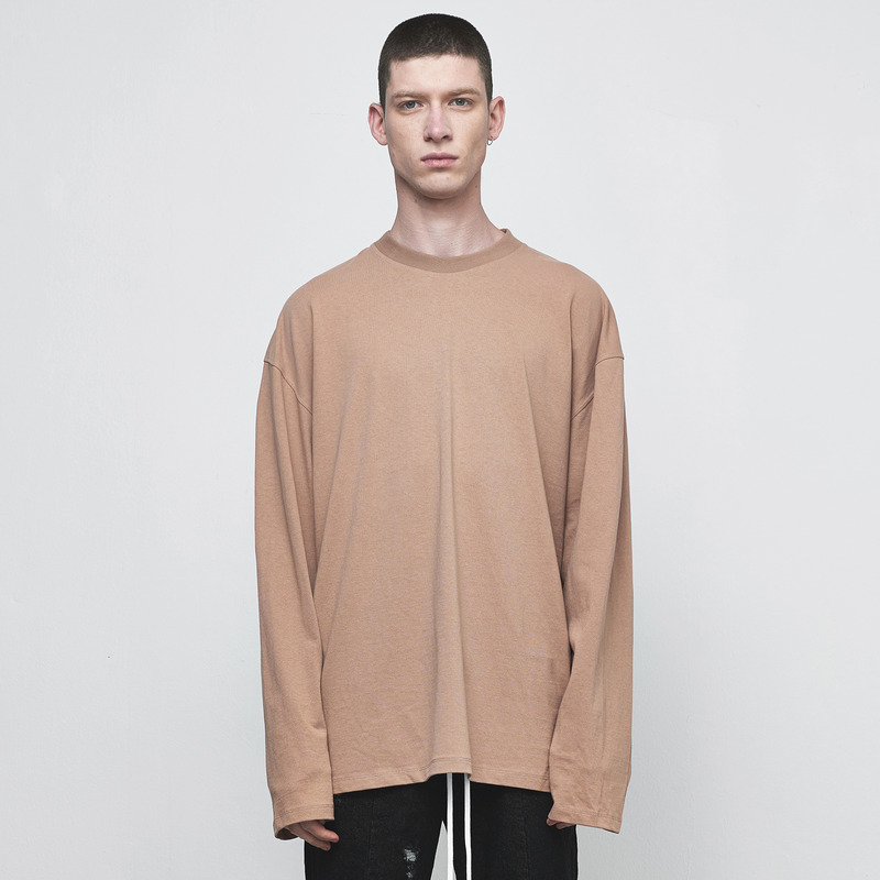 [D.PRIQUE] OVERSIZED LONG SLEEVE T-SHIRT / RUST