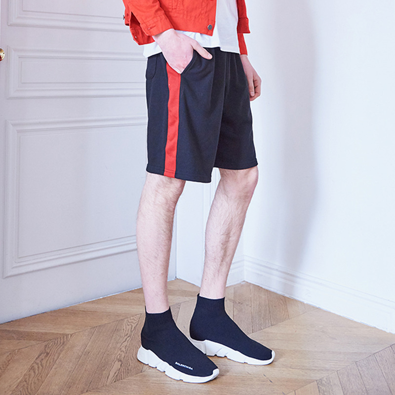 [IDIOTS] LINE SHORT PANTS RED