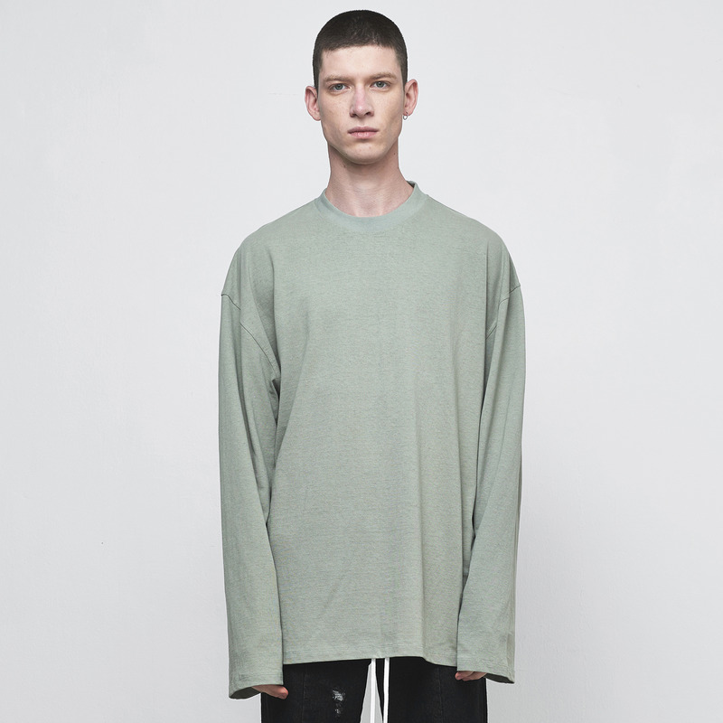 [D.PRIQUE] OVERSIZED LONG SLEEVE T-SHIRT / MINT GREEN