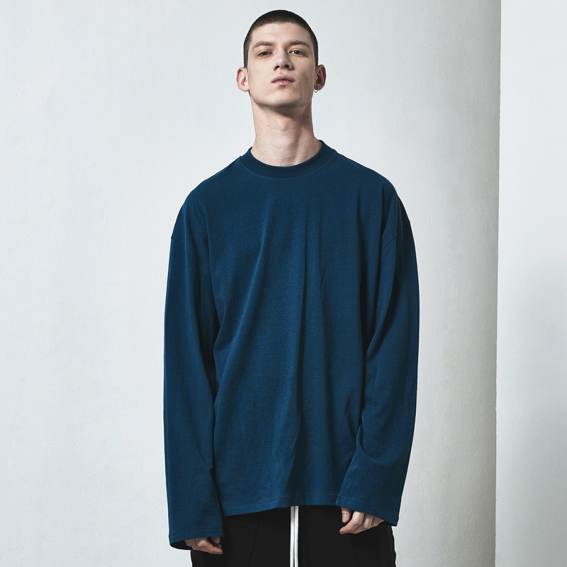 [D.PRIQUE] OVERSIZED LONG SLEEVE T-SHIRT / TURQUOISE