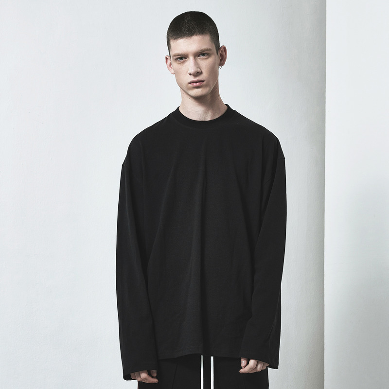 [D.PRIQUE] OVERSIZED LONG SLEEVE T-SHIRT / BLACK