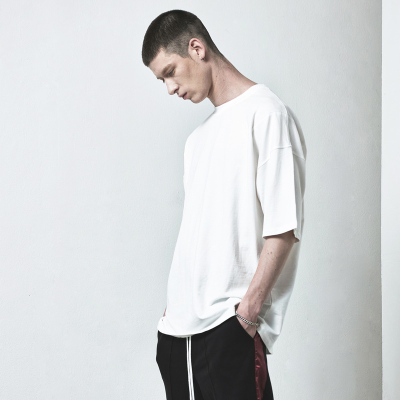 [D.PRIQUE] OVERSIZED BASIC T-SHIRT / WHITE