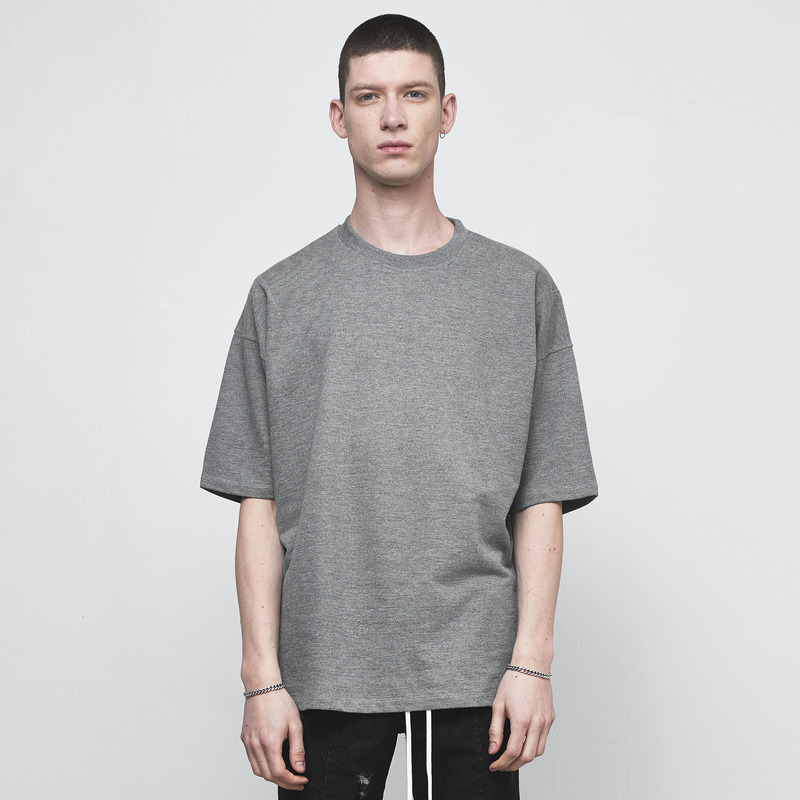 [D.PRIQUE] OVERSIZED BASIC T-SHIRT / GREY