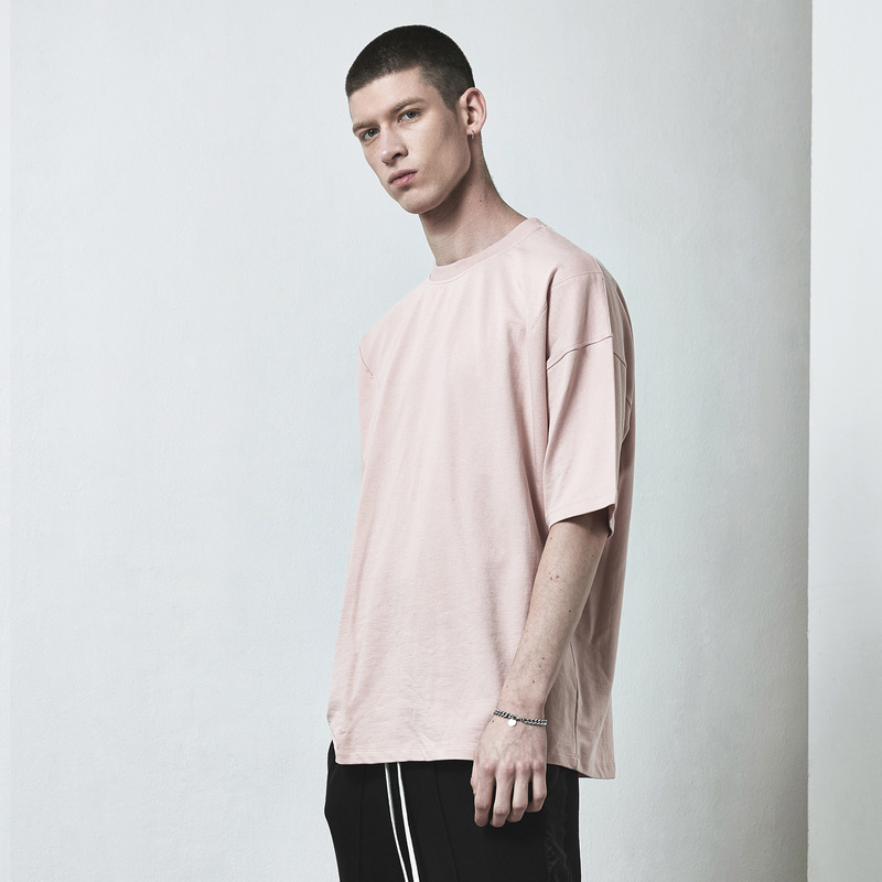 [D.PRIQUE] OVERSIZED BASIC T-SHIRT / PINK
