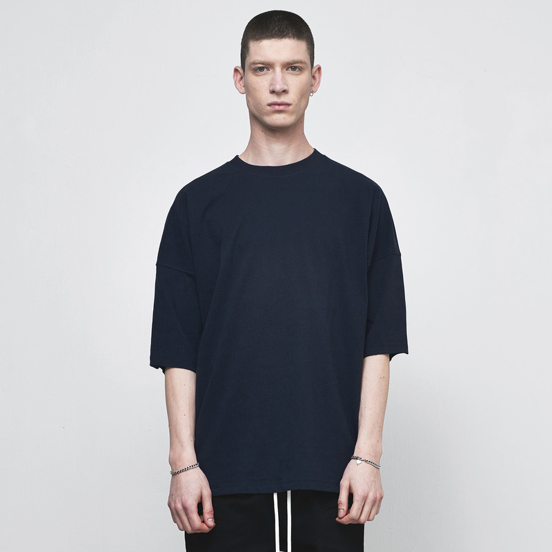 [D.PRIQUE] OVERSIZED T-SHIRT / NAVY