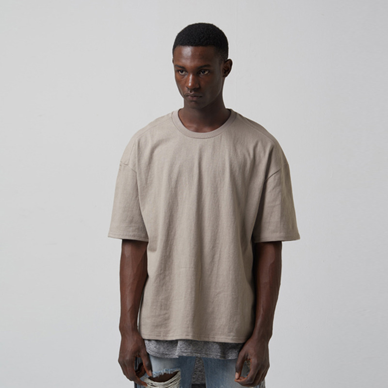 [TAKEASY] WASHED CTN JRSY CREW NECK S/S TEE(TAN)