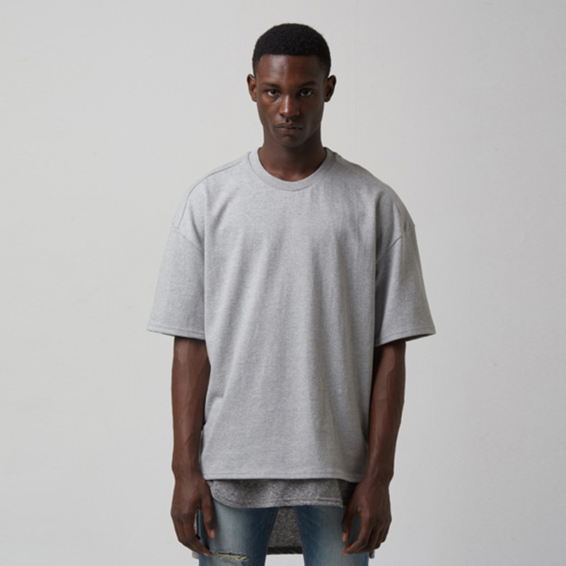 [TAKEASY] WASHED CTN JRSY CREW NECK S/S TEE(MID HEATHER GREY)