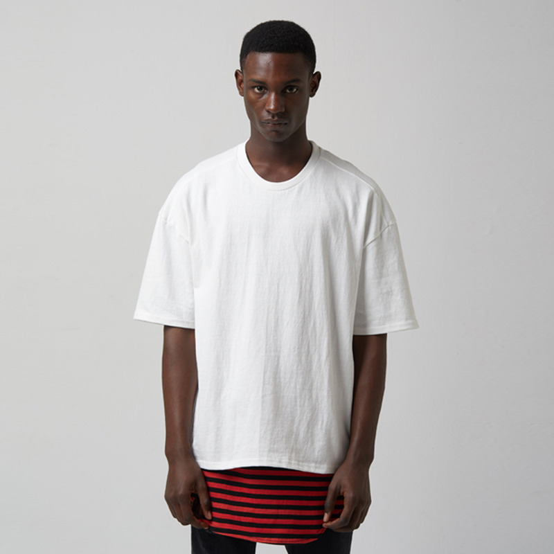 [TAKEASY] WASHED CTN JRSY CREW NECK S/S TEE(CLASSIC WHITE)