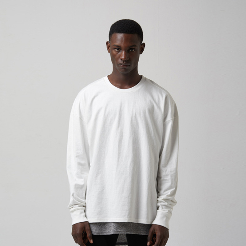 [TAKEASY] WASHED CTN JRSY CREW NECK L/S TEE(CLASSIC WHITE)