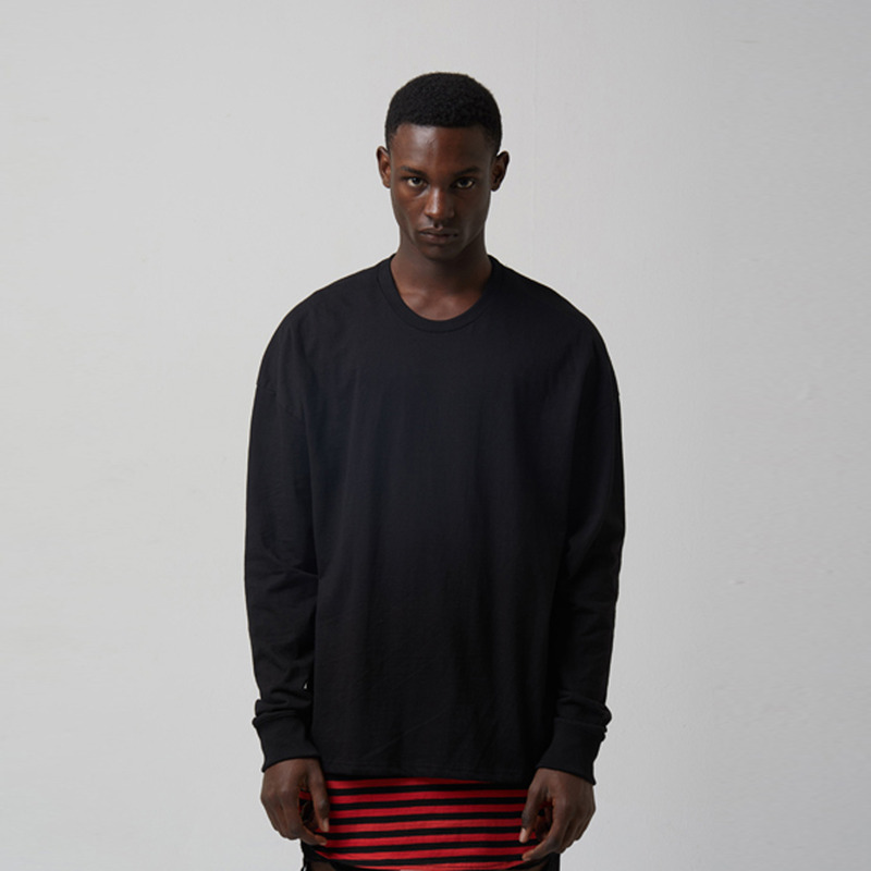 [TAKEASY] WASHED CTN JRSY CREW NECK L/S TEE(CLASSIC BLACK)