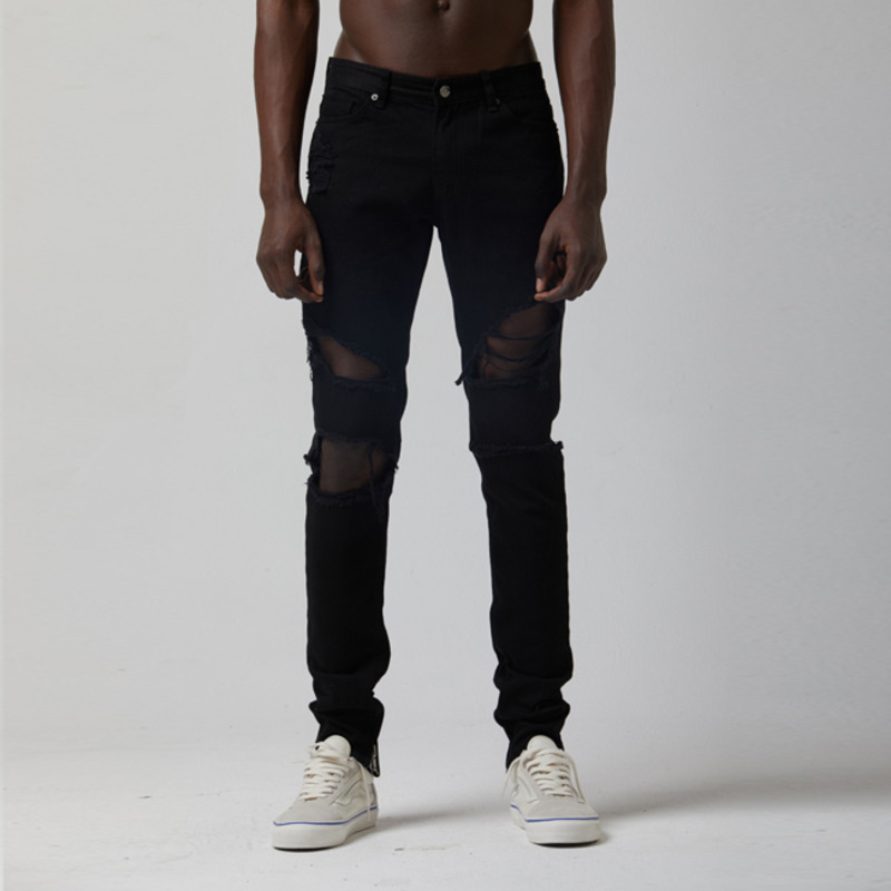 [TAKEASY] NORMAL WASH DISTROYED BLACK/BLACK