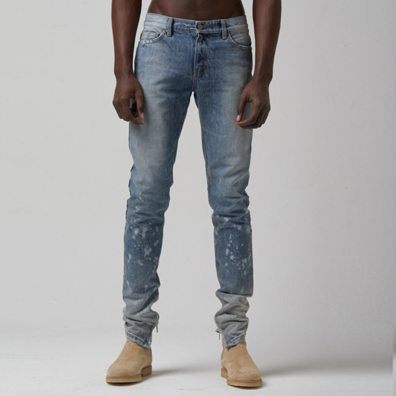 [TAKEASY] VINTAGE WASH X-Y CRUSH SELVEDGE DENIM