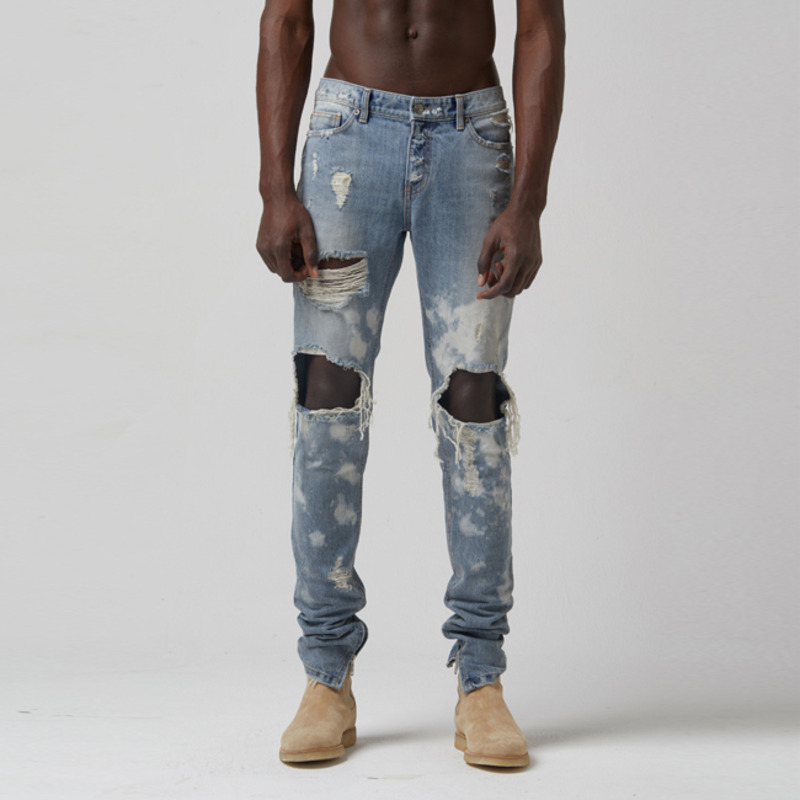 [TAKEASY] VINTAGE WASH X-Y PAINTED SELVEDGE DENIM