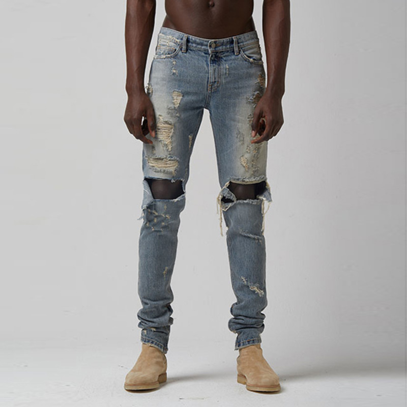 [TAKEASY] VINTAGE WASH DESTRYED SELVEDGE DENIM