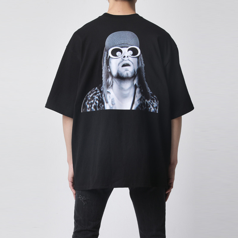 [TAKEASY] WASHED CREW NECK PRINT TEE(SUNGLASSES)