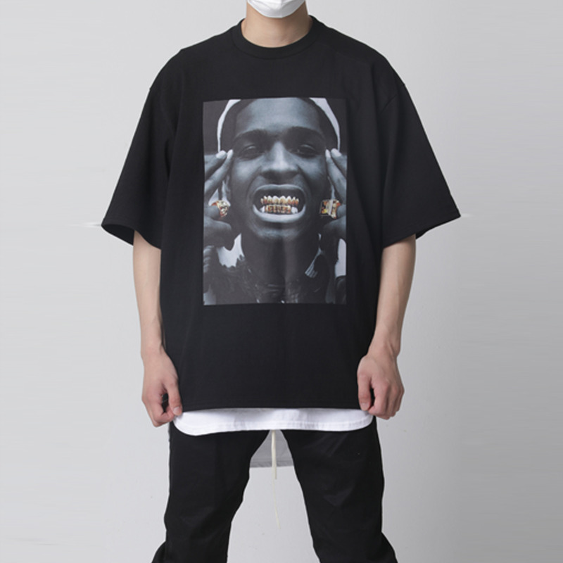 [TAKEASY] WASHED CREW NECK PRINT TEE(GRILLS)