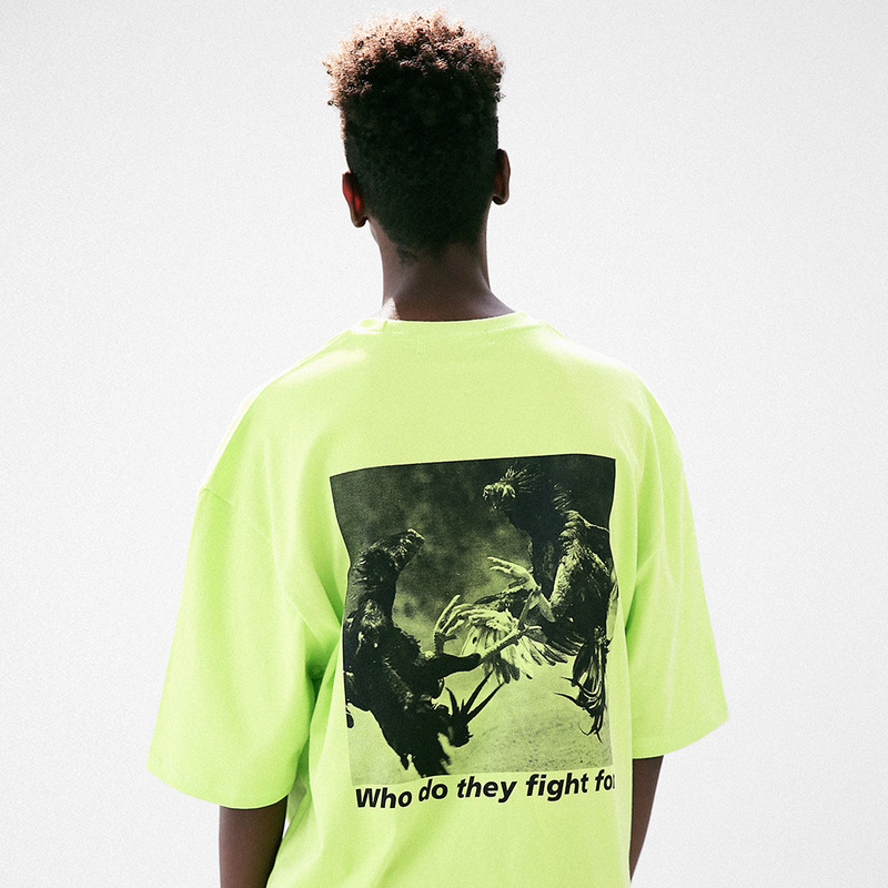 [MASSNOUN] COCKFIGHT OVERSIZED T-SHIRT MUVTS010-LG