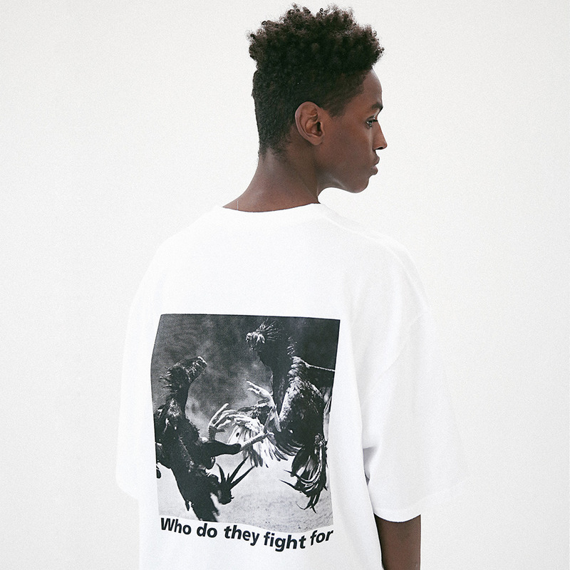 [MASSNOUN] COCKFIGHT OVERSIZED T-SHIRT MUVTS010-WT