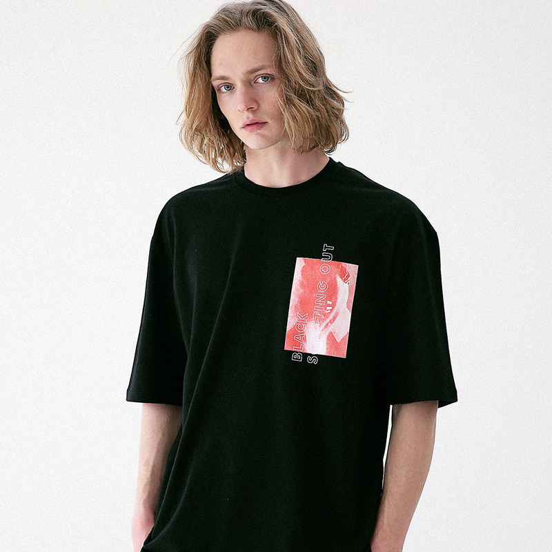[MASSNOUN] NAKEDNESS OUT OVERSIZED T-SHIRT MUVTS006-BK