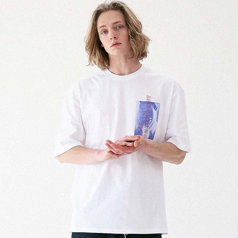 [MASSNOUN] NAKEDNESS OUT OVERSIZED T-SHIRT MUVTS006-OR