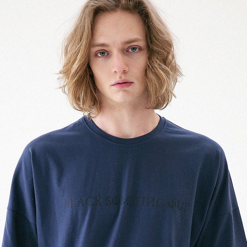[MASSNOUN] SIGNATURE DROP SHOULDER T-SHIRT MUVTS001-DG