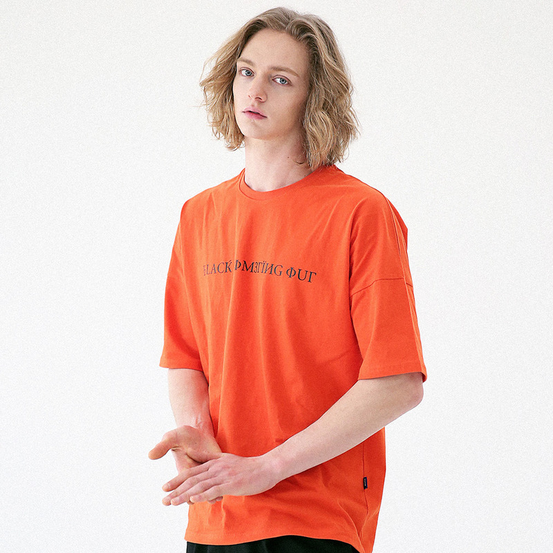[MASSNOUN] SIGNATURE DROP SHOULDER T-SHIRT MUVTS001-OR