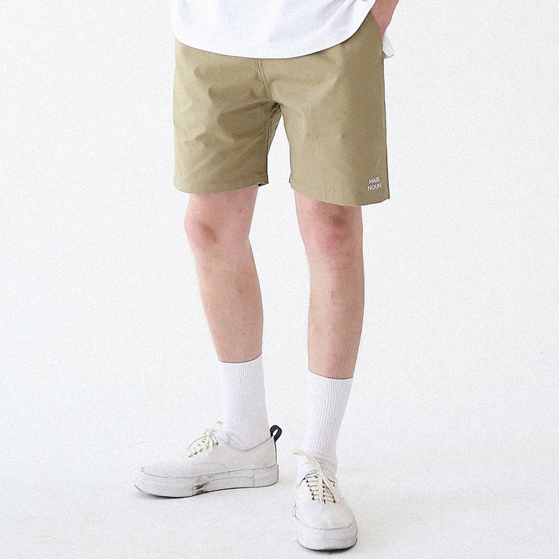 [MASSNOUN] LIGHTGRAYISH SHORT PANTS MUVSP001-KK