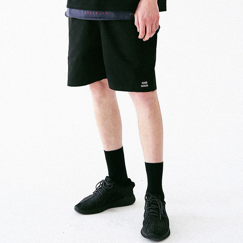 [MASSNOUN] LIGHTGRAYISH SHORT PANTS MUVSP001-BK