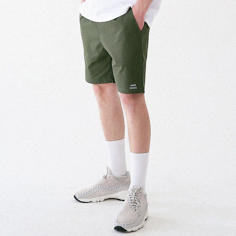 [MASSNOUN] LIGHTGRAYISH SHORT PANTS MUVSP001-GN