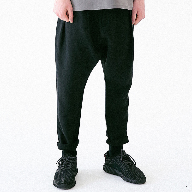 [MASSNOUN] DISTINCTIVE LINEN BAGGY PANTS MUVCP003-BK