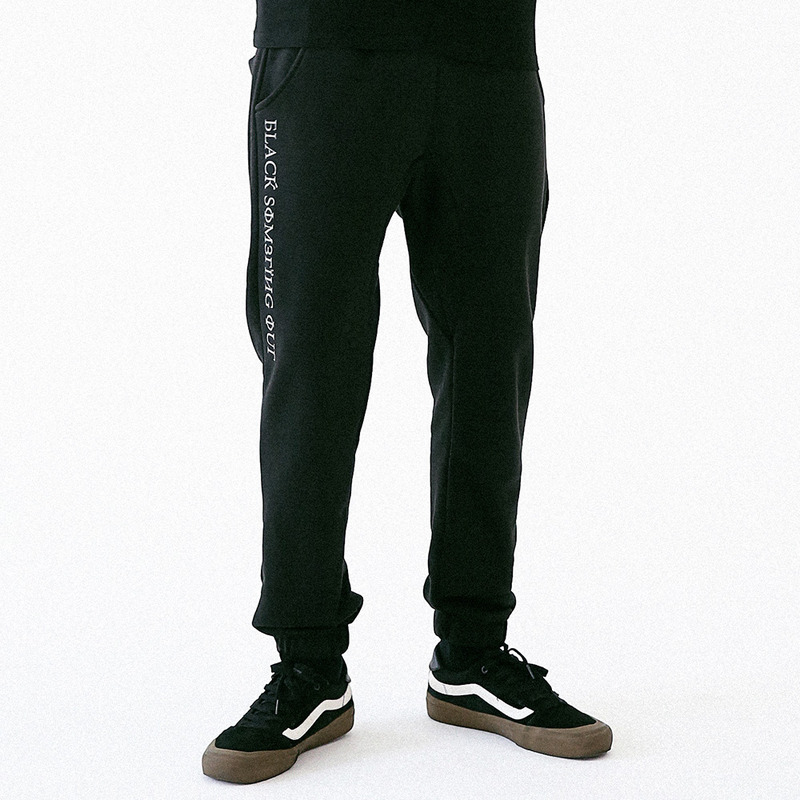 [MASSNOUN] BLACKSOMETHING OUT JOGGER PANTS MUVCP002-BK