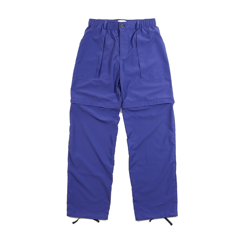 [END/AND] 2-WAY UTILITY ZIP POLY PANTS [BLUE]