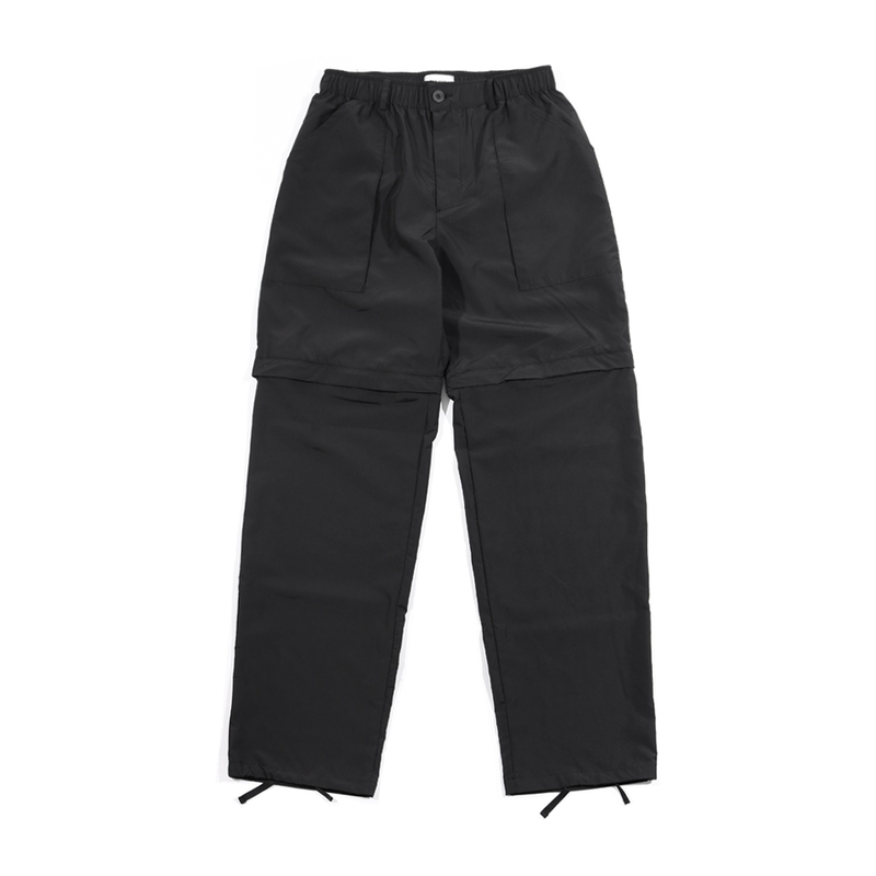 [END/AND] 2-WAY UTILITY ZIP POLY PANTS [BLACK]
