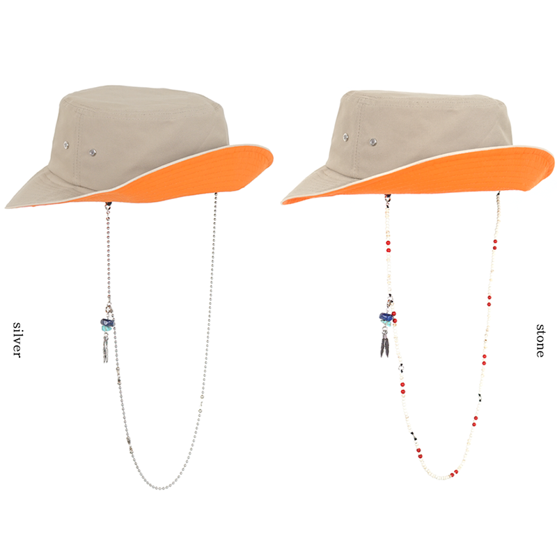 [WHATEVER] BUCKET HAT x EYEWEAR HOLDER (BEIGE)