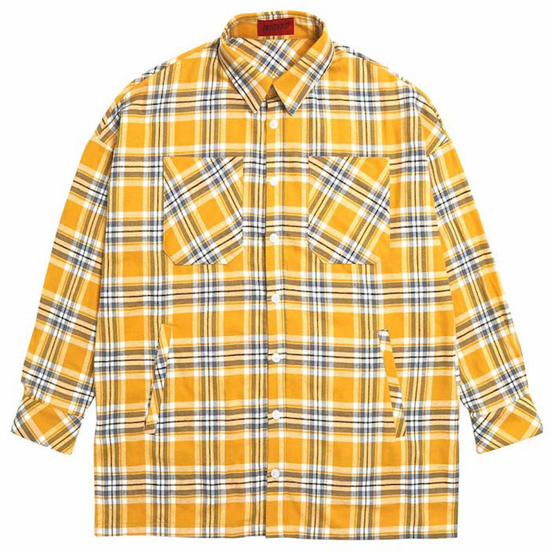 [DEADEND] YELLOW FLANNEL POCKET SHIRTS V2
