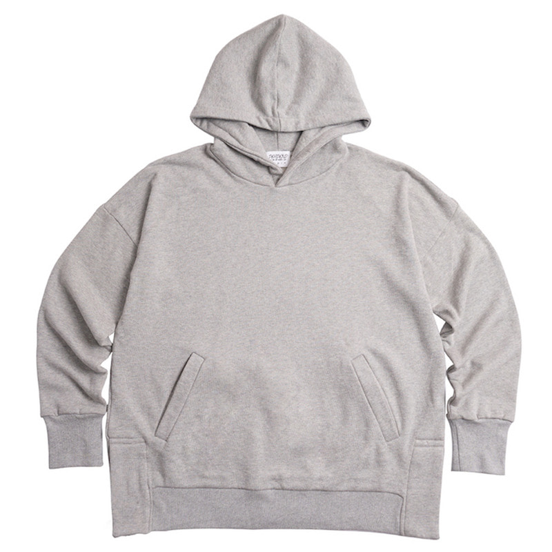 [DEADEND] GREY SET IN RAGLAN PULLOVER HOODIE