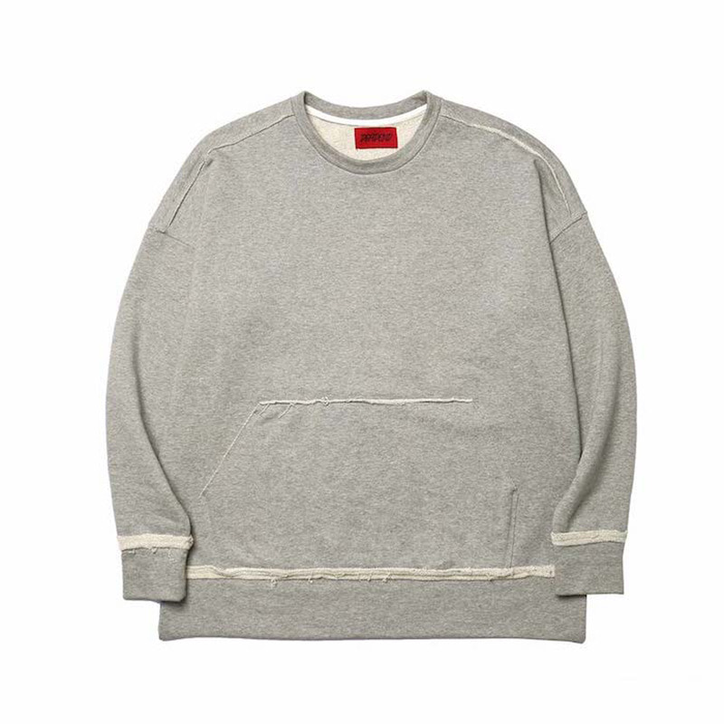 [DEADEND] GREY RAW EDGE SWEAT SHIRTS