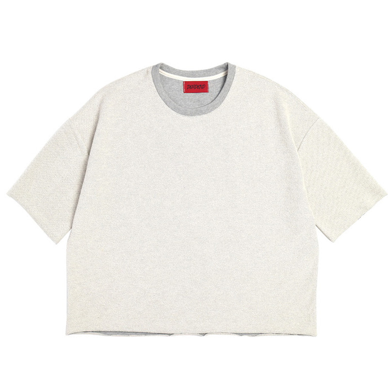 [DEADEND] GREY 3/4 REVERSED SWEAT SHIRTS