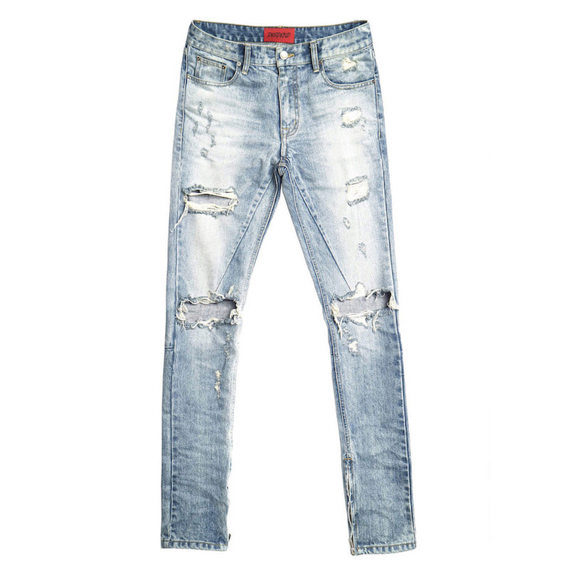 [DEADEND] EXPLODE ZIPPER DENIM JEANS