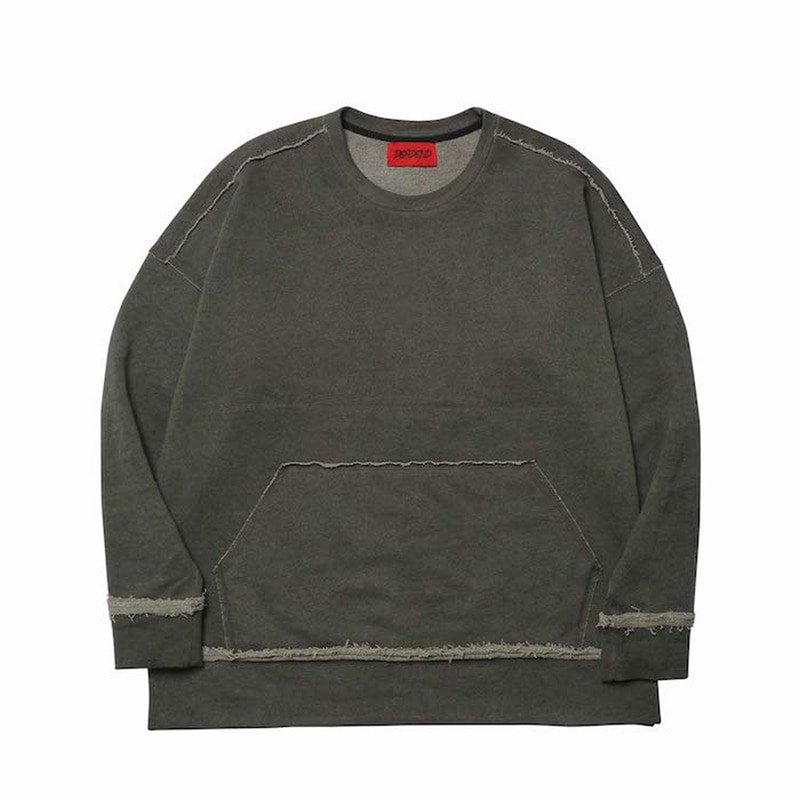 [DEADEND] CHARCOAL RAW EDGE SWEAT SHIRTS
