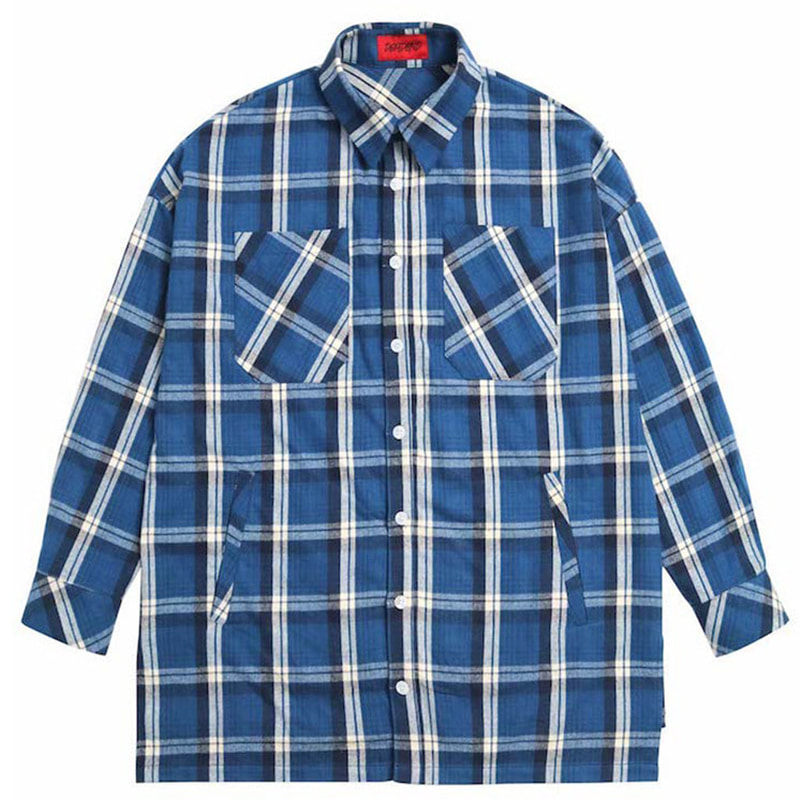 [DEADEND] BLUE FLANNEL POCKET SHIRTS V2