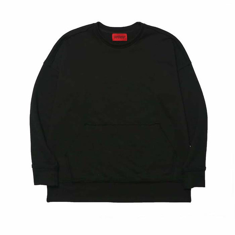 [DEADEND] BLACK RAW EDGE SWEAT SHIRTS