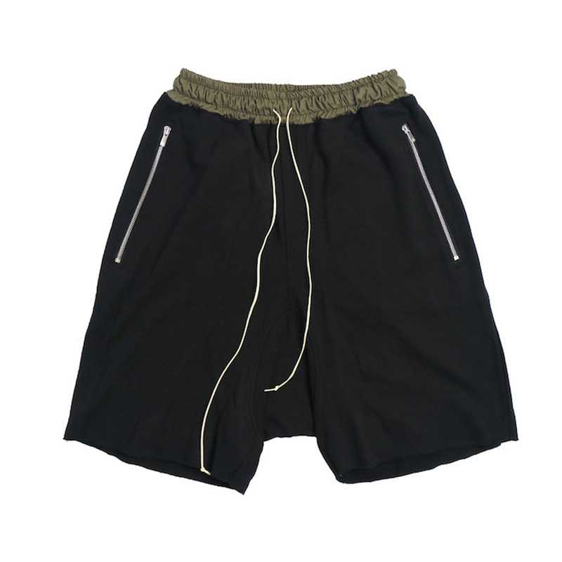 [DEADEND] BLACK DRAWSTRING SHORT PANTS