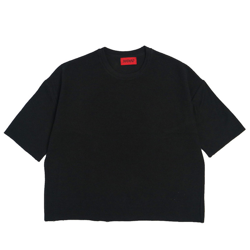 [DEADEND] BLACK 3/4 REVERSED SWEAT SHIRTS
